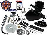 Mega Motors 48cc Black Angle Fire Bicycle Engine Kit - 2 Stroke