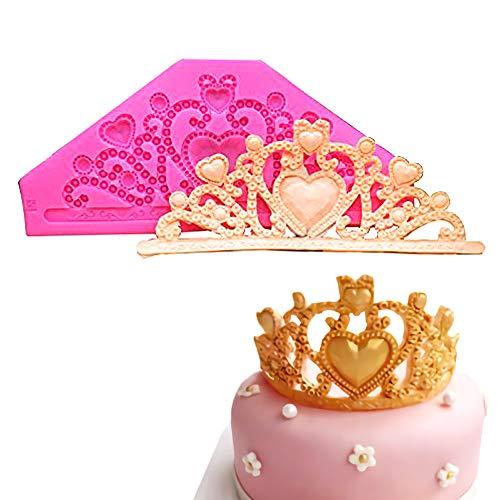 Gem Crown Mold/Princess Crown Fondant Cake Molds Chocolate Mold Wedding Cake Decoration Tools by - Gumpaste Cake Wedding