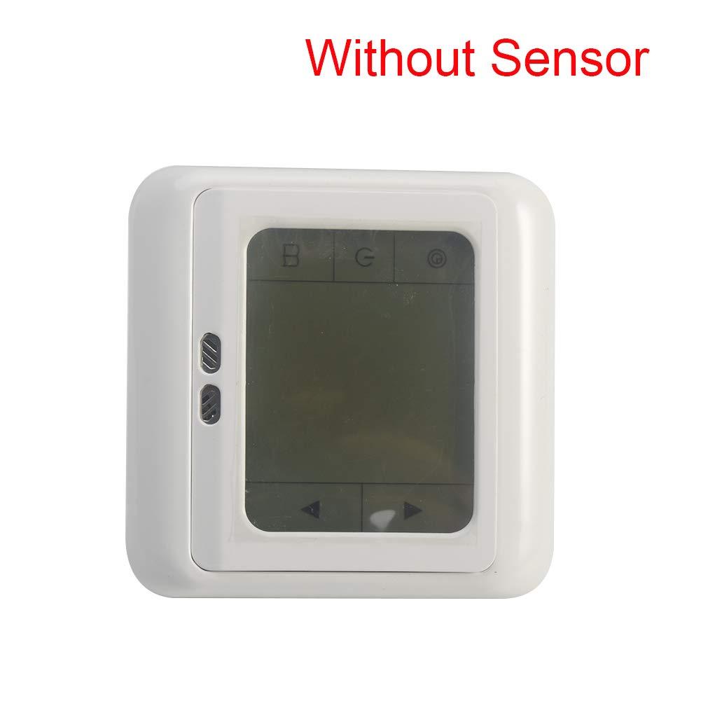 termostato de calefacci/ón el/éctrica para suelo caliente Controlador de temperatura digital con pantalla t/áctil f/ácil de operar blanco