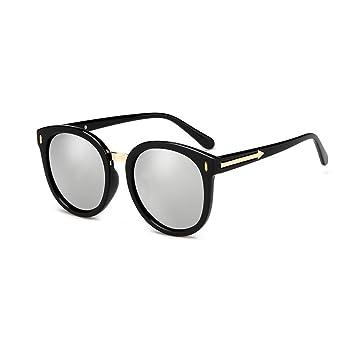 LIZHIQIANG Sonnenbrille Damen Runde Gesicht Polarisierte Sonnenbrille Persönlichkeit Sonnenbrille Lange Gesicht Polarisator Sonnenschirm (Farbe : Pink) VJRLc5