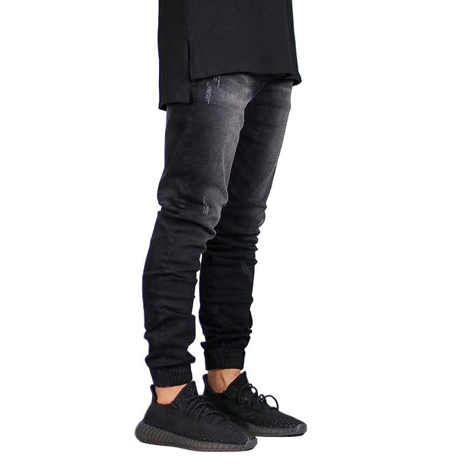 Amazon.com: Pantalones vaqueros elásticos para hombre ...