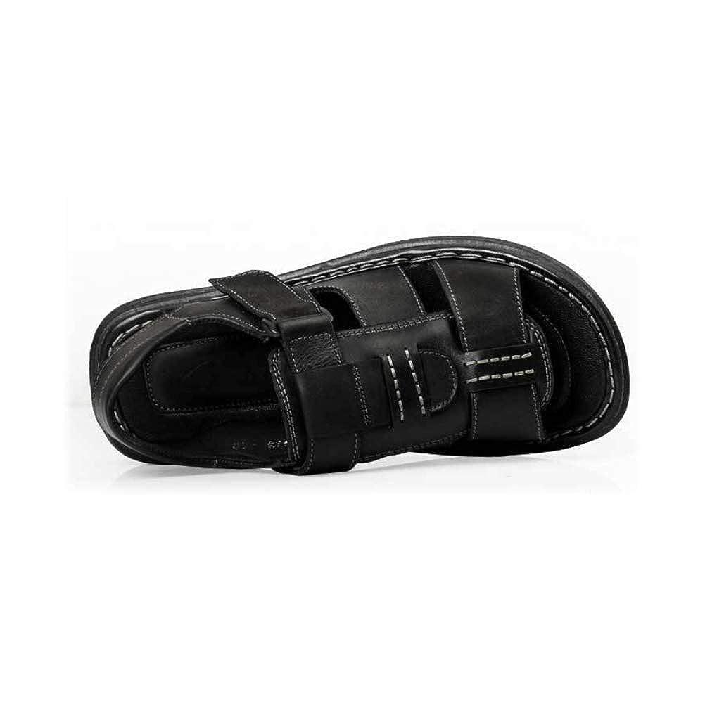 LYZGF Männer Mode Jugend Sommer Casual Sandalen Mode Männer Strand Breath Hausschuhe schwarz1 a5c47e
