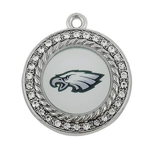 Logo Dangle - Cell's world - Mix 6 Style Philadelphia Eagles Football Team Logo Dangle Charms Fit DIY Bracelet&Necklace Pendant Jewelry 20pcs/lot