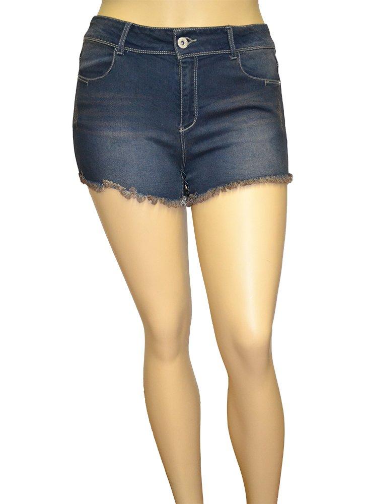 Alfa Global Junior's Plus Size Denim Shorthy Short SH018 Size 16