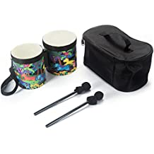 """Tosnail Kids Bongo Drum with Cute Animals Pattern - 5""""-6"""""""