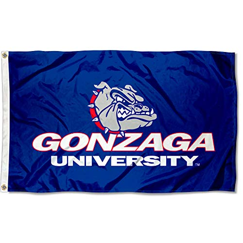 College Flags and Banners Co. Gonzaga Bulldogs Wordmark Flag - Gonzaga Bulldogs Bulldog