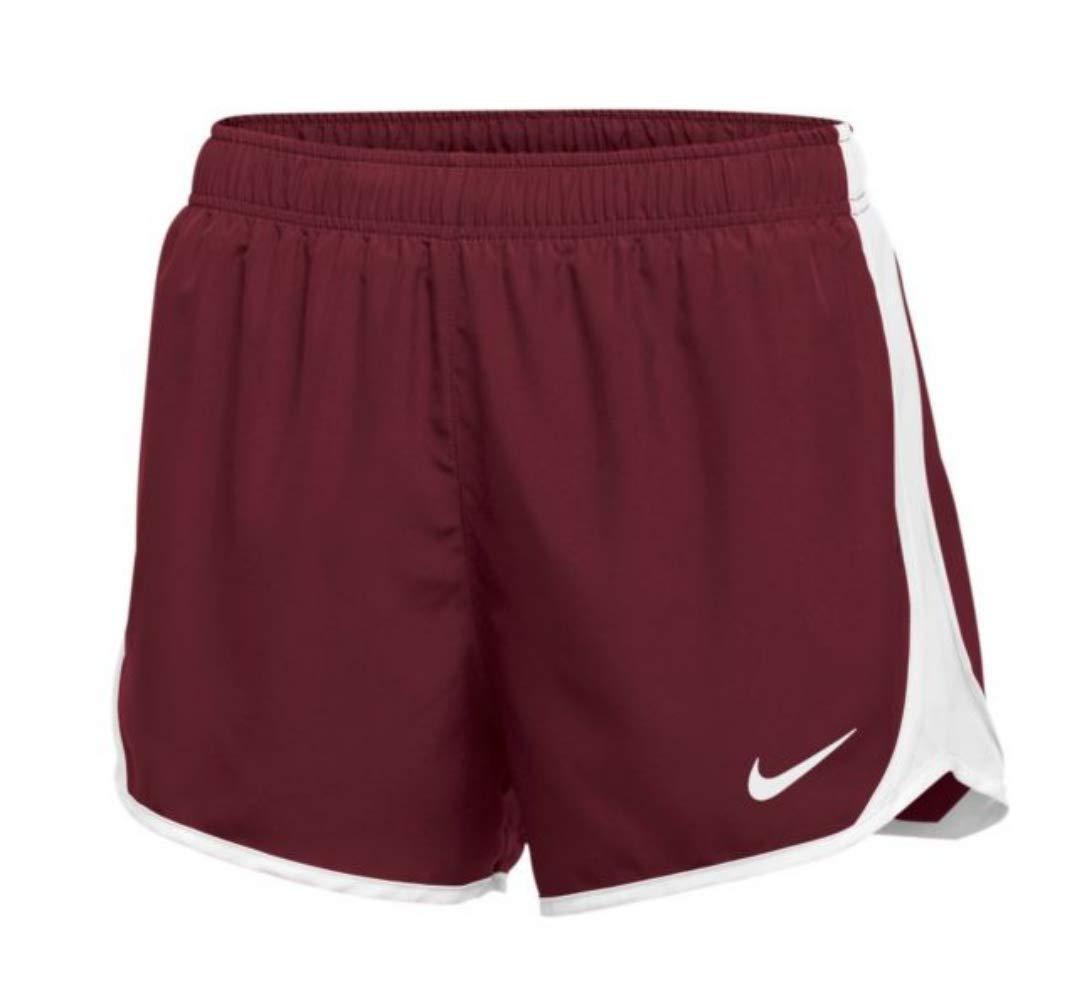 Nike Dry Tempo Short (Cardinal/White/White/(White), Large) by Nike