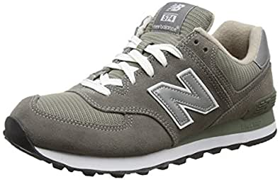 New Balance Men's ML574 Lifestyle Sneaker,Grey/Silver,7 D