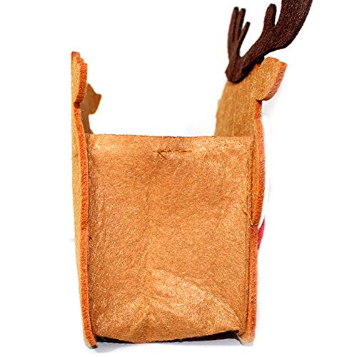 YaptheS Christmas Gift Handbag Xmas Reindeer Elk Gift Handbag Non-woven Fabric Tote Bag Trick or Treat Candy Bag Mall Gift Bags Ghost Festival Decoration Christmas Gift by YaptheS (Image #1)