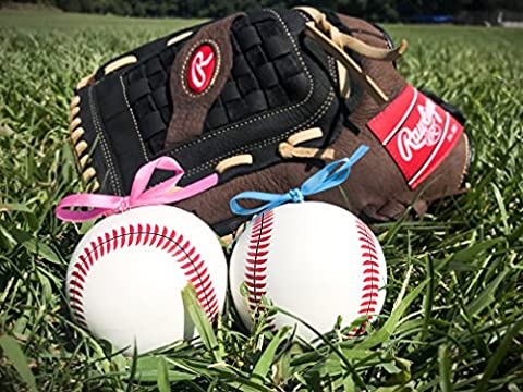 2 Gender Reveal Baseballs: Blue And Pink Pair   Team Boy & Team Girl   Two Beautiful Vibrant Powder Filled Balls   Great For Sex Reveal Celebrations And Baby Shower (Exploding Smoke Bombs)