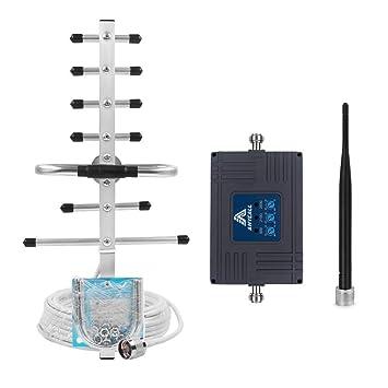 ANYCALL Amplificador Señal Movil 2G/3G/4G Tri-Banda Repetidor gsm Mejorar la Red y Llamar 900/2100/2600MHz Soporte Movistar/Orange/Yoigo/Vodafone para ...