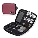 Hynes Eagle Travel Universal Cable Organizer Electronics Accessories Cases For Various USB, Phone, Charger and Cable, Purple