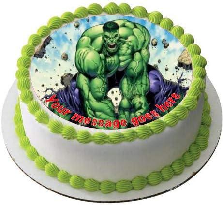 Hulk 19cm Round Icing Topper Amazon De Kuche Haushalt