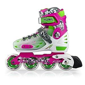 Kinder und Jugend Inline Skates Rollschuhe lila Größe 34-37, Schuhe Länge...