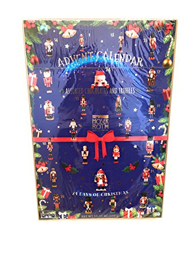 Moser Roth Nutcracker Advent Calendar 24 Days of Christmas Chocolates & Truffles Luxurious European Belgian Chocolate Privat Collection Chocolate Oversized 11.11 oz 24 Candy Pieces