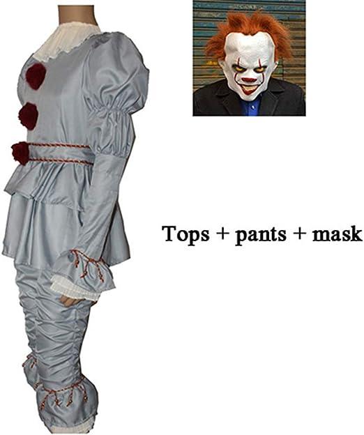 DMMDHR Halloween 3 Piezas Clown It Cosplay Disfraz Disfraz Adulto ...