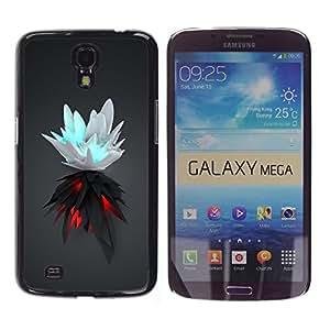 LECELL -- Funda protectora / Cubierta / Piel For Samsung Galaxy Mega 6.3 I9200 SGH-i527 -- White & Black Splash --