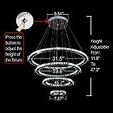MEEROSEE Crystal Chandeliers Modern LED Ceiling