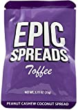 Epic Spreads - Toffee Peanut Cashew Coconut Spread Squeeze Pack 1.15oz (Pack of 10)