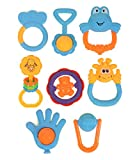 Baby Multicolor Teether Cum Rattle Set 8 Pc