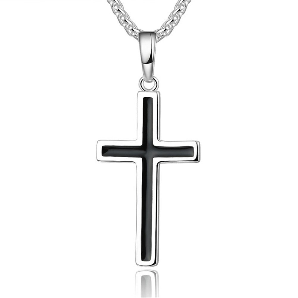 WELRDFG Religious Jewelry Stainless 18K Gold Plated/Silver Plated Cross Pendant WELRDFG Jewelry P1028