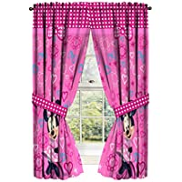 Disney Minnie Mouse Window Panels Curtains Drapes Pink...