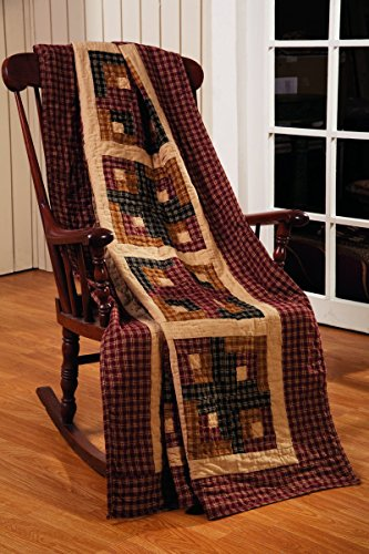 Olivia's Heartland Cambridge Log Cabin Quilted Throw Blanket