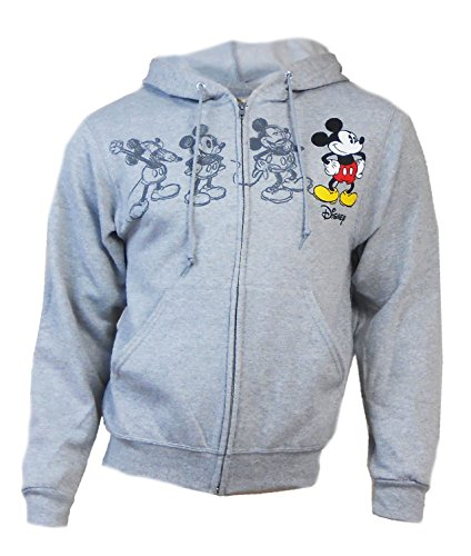 Disney Adult Mickey Plus One Heathred Grey Xtra-Large (Disney Jackets)