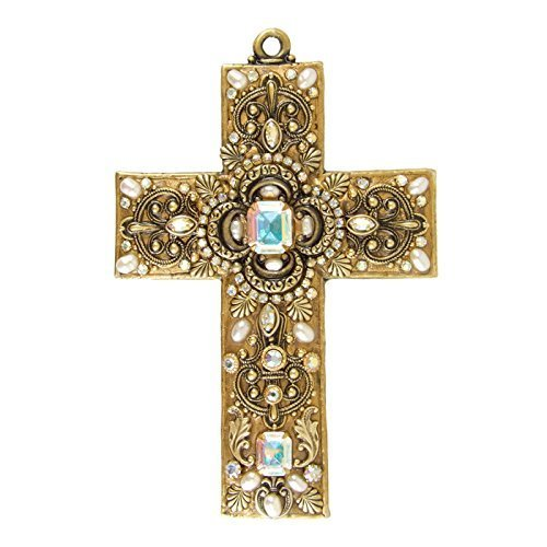 Michal Golan Freshwater Pearls Gold Wall Cross