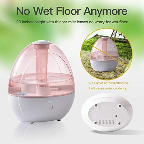 51JRtHSl4mL. AC - Cool Mist Humidifier – Humidifier For Baby Bedroom, Super Quiet Mist Humidifier With High Low Mist, Waterless Auto-off, Night Light, 2L Capacity, Filterless Humidifiers For Home Office, ETL Approved