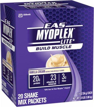 Eas 20 Packet - EAS Myoplex Lite Nutrition Shake - Vanilla Cream - 20 Servings