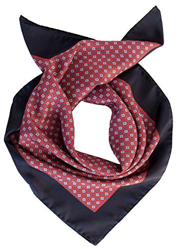 Elizabetta Italian Silk Neckerchief, Small Square Scarf, Large Bandana-Red - Exclusive Silk Twill