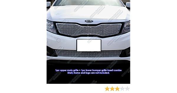 Amazon.com: APS Fits 2011-2013 Kia Optima SX Stainless X Mesh Blitz Grille Combo #KX1126S: Automotive