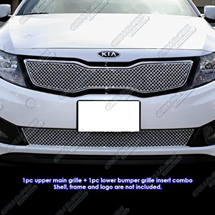 Amazon.com: APS Fits 2011-2013 Kia Optima SX Stainless X Mesh Blitz Grille Combo #KX1126S: Automotive