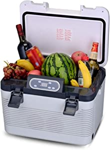 LQUIDE Mini Portable Compact Personal Fridge, Cools & Heats, 19L Capacity, Eco Friendly, Semiconductor Travel Car Refrigerator for Office, College Dorm Room, Bedroom & Apartment, Small Compressor Re