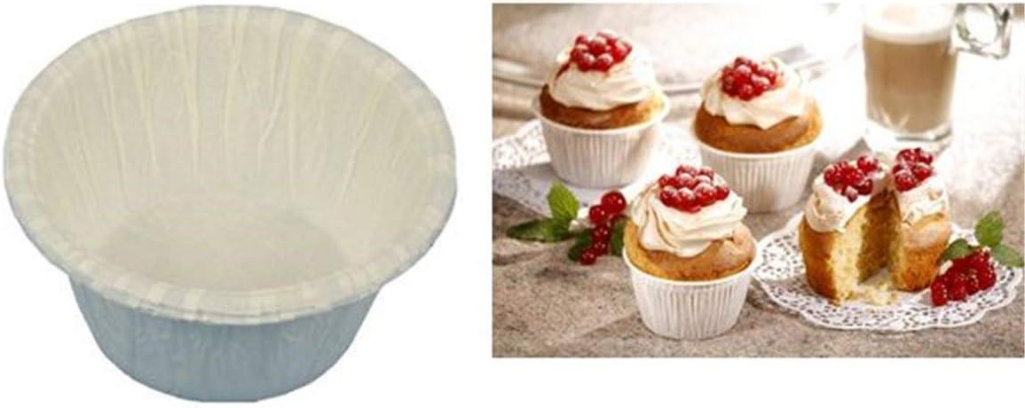 20 Muffins-Backf/örmchen /Ø 5 cm /· 3,5 cm weiss