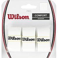 Raqueta de tenis Wilson sobre agarre, blanco, paquete de 3