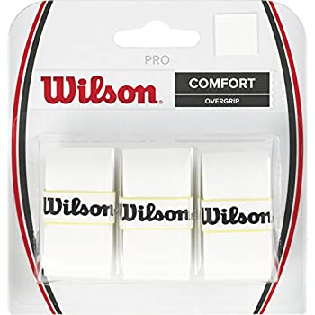 Amazon.com : Wilson Perforated Pro Overgrip (12-Pack), White ...