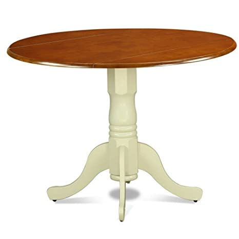 Amazon.com - Expanding Dining Table Round Dropleaf Cherry ...