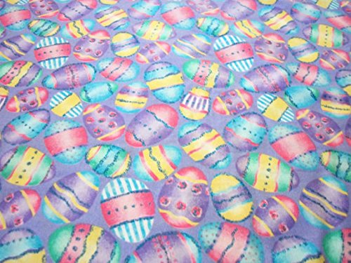 Easter Eggs Fabric Beautiful Colors Egg Hunt By The Fat Quarter BTFQ - International Shipping Rate Flat