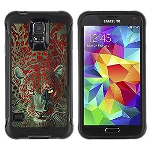 Suave TPU GEL Carcasa Funda Silicona Blando Estuche Caso de protección (para) Samsung Galaxy S5 V / CECELL Phone case / / Leopard Animal Eyes Africa Fur /