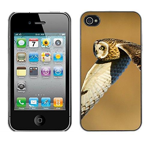 Premio Sottile Slim Cassa Custodia Case Cover Shell // F00016836 hibou volant // Apple iPhone 4 4S 4G