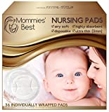 Mommies' Best Airy Soft Disposable Nursing Pads Non-Slip Leakproof - 36 Count
