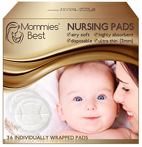 Mommies' Best Airy Soft Disposable Nursing Pads Non-Slip Leakproof – 36 Count