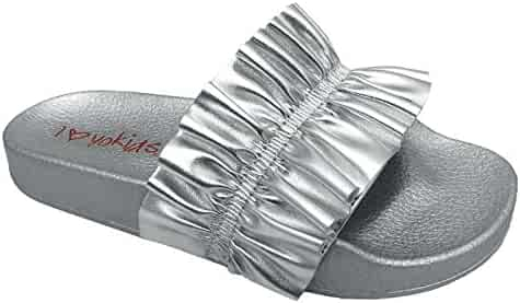 9dcce70734a1 Shopping Purple or Silver - Slide - Sandals - Shoes - Girls ...