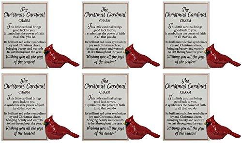 Ganz Porcelain (Ganz The Christmas Cardinal Charm, Symbol of Faith - Set of 6)
