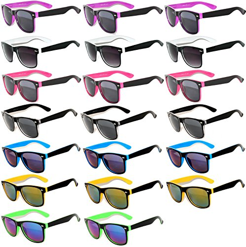 20 Pieces Per Case Wholesale Lot Glasses. Assorted Colored Frame Fashion Sunglasses.Bulk Sunglasses - Wholesale Bulk Party Glasses, Party - Sunglass Lot