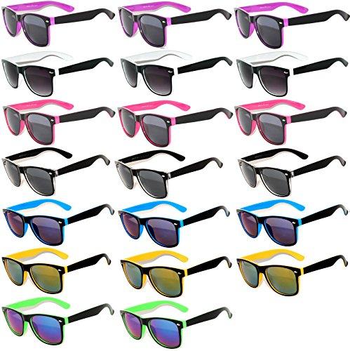20 Pieces Per Case Wholesale Lot Glasses. Assorted Colored Frame Fashion Sunglasses.Bulk Sunglasses - Wholesale Bulk Party Glasses, Party - Lot Sunglass