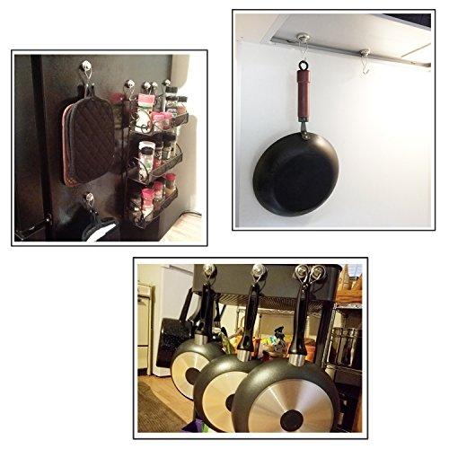 50lb Magnetic Hooks, Makone 1.26'' D32 Heavy Duty Rotating Swivel Swing Strong Neodymium Magnet Hooks (5 Packs) by Makone (Image #4)