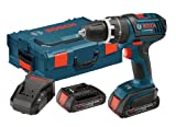 Cheap Bosch HDS181-02L 18-Volt Lithium-Ion 1/2-Inch Hammer Drill/Driver Kit with 2 High Capacity Batteries, Charger and L-BOXX-2
